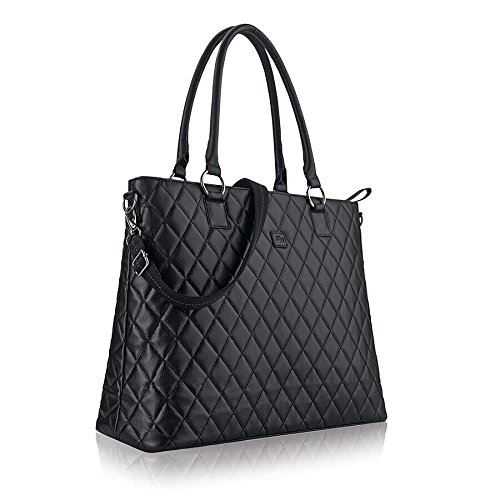 Solo Waldorf Tote with 15.6 Inch Laptop Compartment, Black by SOLO (Image #3)