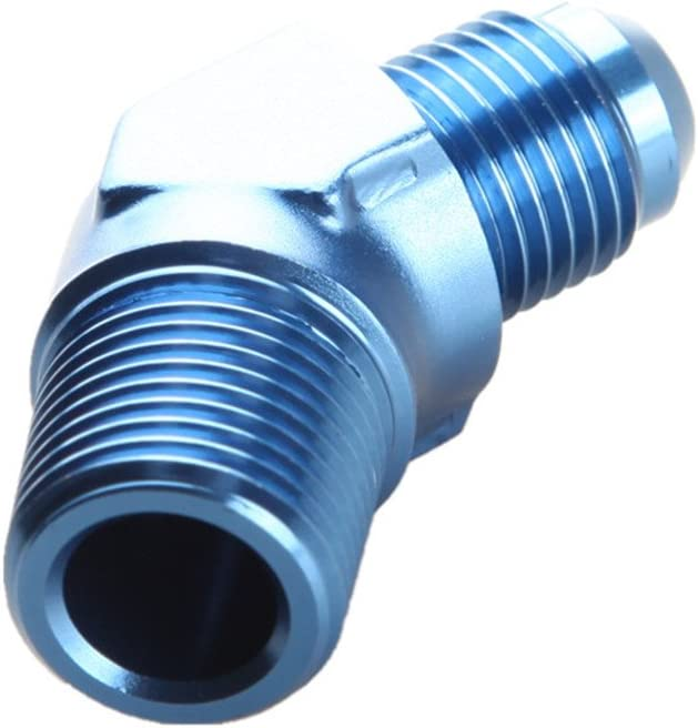 AN-4 4AN To AN4-4AN 45 Degree Female To Male Full Flow Adapter Fitting Black