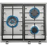 Teka EX 60 1 3G AI AL DR BUT Integrado Encimera de gas Acero inoxidable - Placa (Integrado, Encimera de gas, Hierro fundido, Acero inoxidable, hierro fundido, 1750 W)