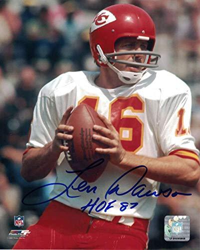 Len Dawson Autographed/Signed Kansas City Chiefs 8x10 Photo HOF