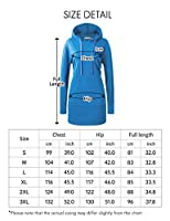 REGNA X Women's Long sleeve Casual Hoodie dress with kangaroo pocket (10 Colors, Plus size available)