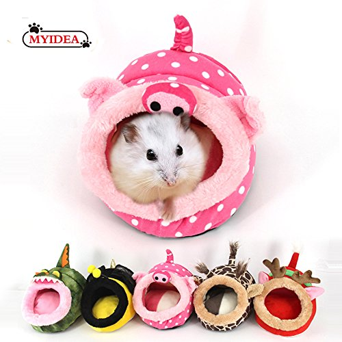 MYIDEA Warm Guinea pigs Bed,Hedgehog Winter Nest,Rat Chinchillas & Small pet Animals Bed/Cube/House, Habitat, Lightweight, Durable, Portable, Cushion Big Mat (Hedgehog Names Adorable)