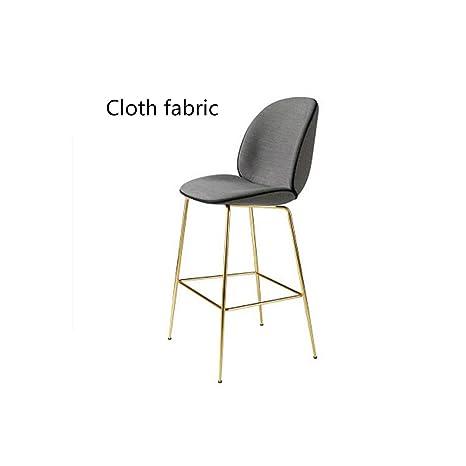 Amazon.com: tthappy76 Silla de bar nórdica de estilo simple ...