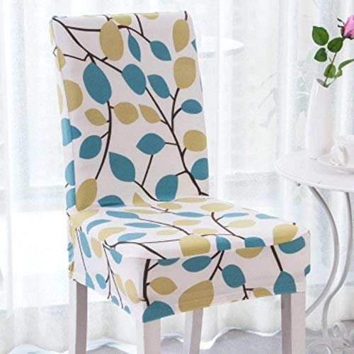 Slipper Chair Covers - Hakazhi Colors Printed Spandex Stretch Dining Chair Cover Machine Washable Banquet Muliti Style Floral Pattern Slipcover (Universal Size,Leaf)