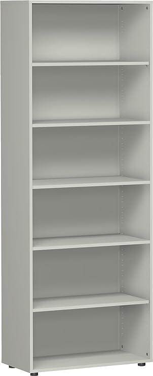 Gera Möbel S-386001-LG Regal Mailand 6 OH mit Standfüßen, 80 x 40 x ...