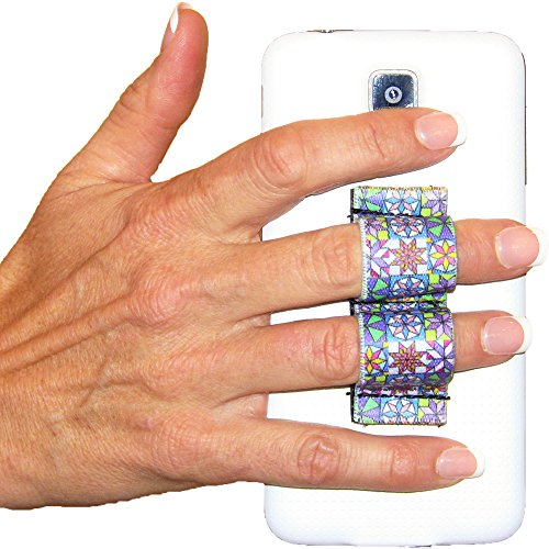 LAZY-HANDS 2-Loop Phone Grip - FITS MOST - Quilter Design
