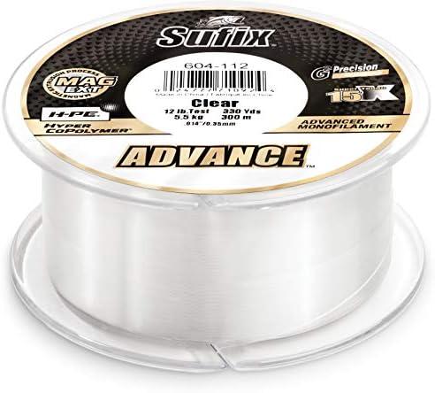Sufix Advance Clear Monofilament 250-330 Yard Spools