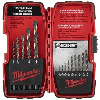 Milwaukee 48-89-1110 14-Piece Black and Bronze Drill Bit Set