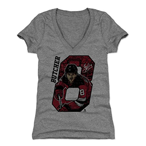 500 LEVEL Will Butcher Women's V-Neck Shirt Large Tri Gray - New Jersey Hockey Women's Apparel - Will Butcher Offset R