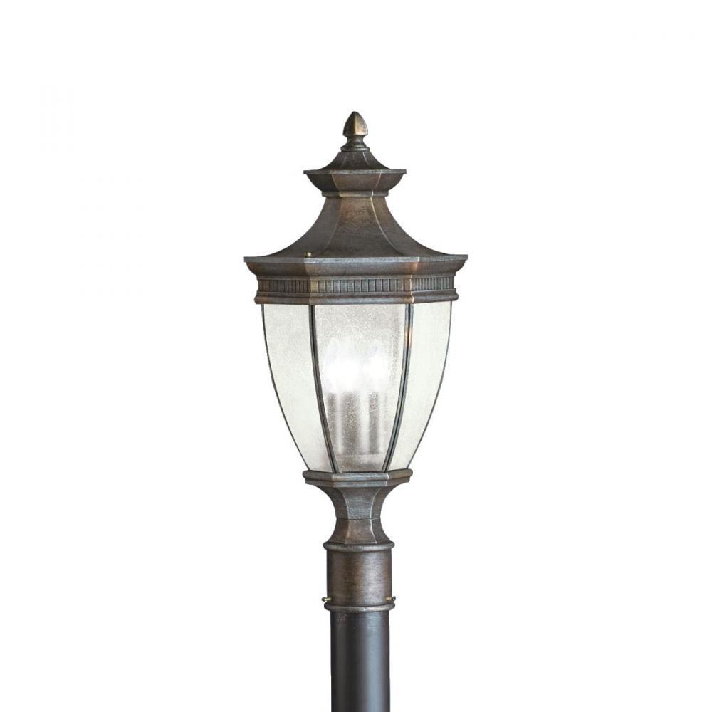 Kichler 9898TZ Warrington Outdoor Post Mount 3-Light, Tannery Bronze