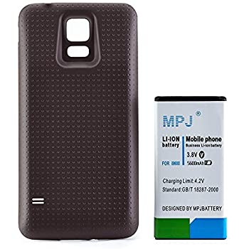 amazoncom galaxy s5 extended battery mpj 5600mah high