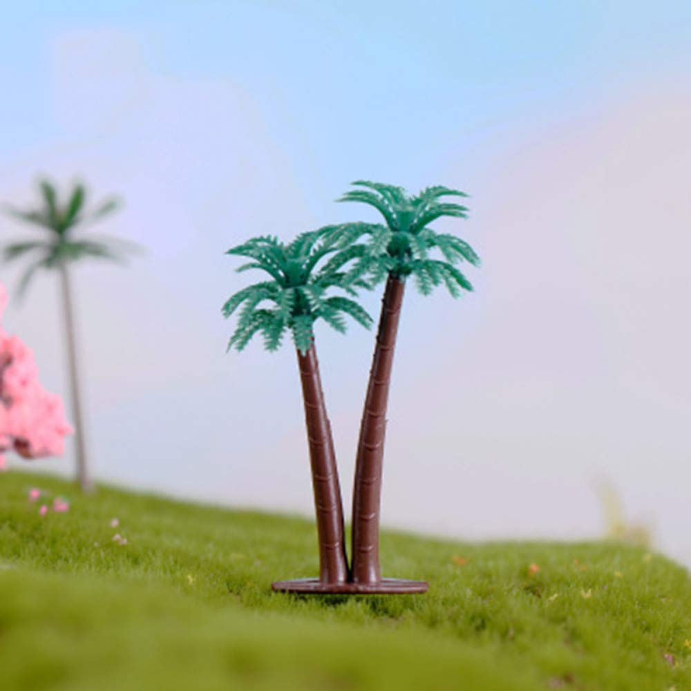 JIAHUADE 1 Piece Indonesia Philippines Coco Coconut Palm Tree Cocos Small Statue Figurine Crafts Ornament Miniatures DIY