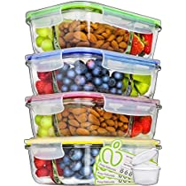 Glass Meal Prep Containers 3 Compartment - Food Containers Meal Prep Food Prep Containers Lunch Containers