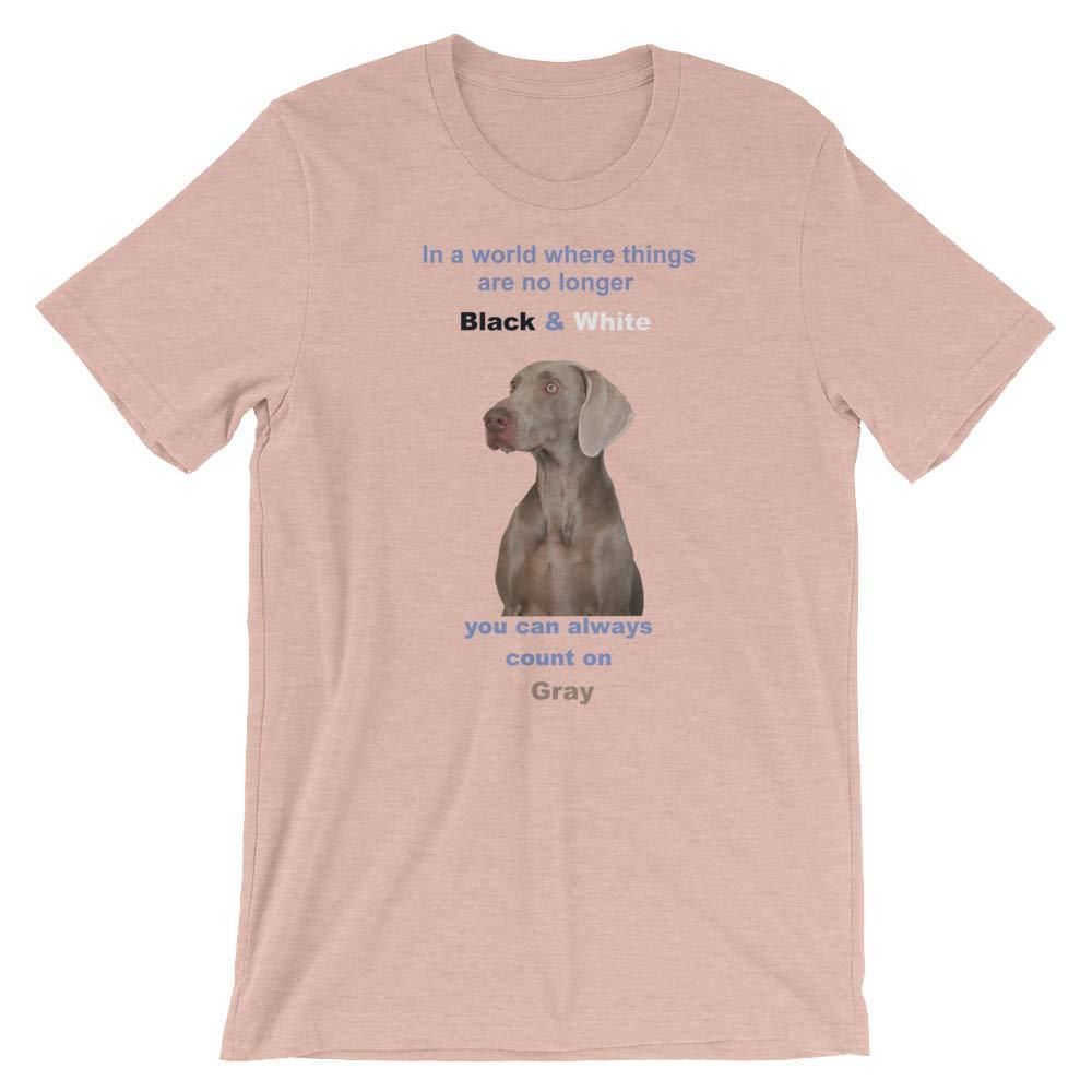 Weimaraner Always Count On Gray Short-Sleeve Unisex T-Shirt