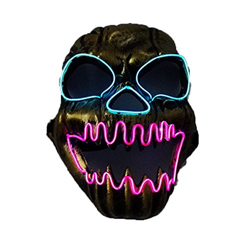 Scary Led Mask Purge Halloween Light Up Professional Rave Costumes Glow Stick Led Face Changeable Party City Mask for Parties Festival Costume by Latburg (Red)