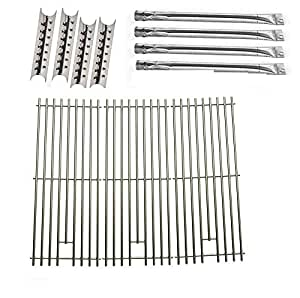 Brinkmann 810-8410-S Replacement Kit Includes 4 Stainless Heat Shields, 4 Stainless Burners and Solid Stainless Grates