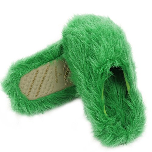 Chaud Automne Pantoufles Femme Printemps Pour Vert Mules Slipper Hiver Longue Peluche Home En Bureau Maison Chaussons nFXIqxO