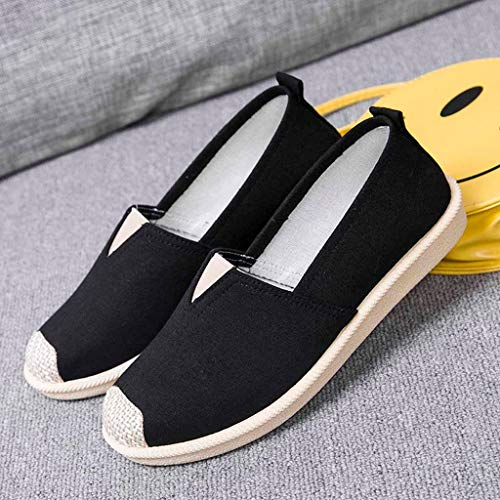 Zapatos Mujer Slip Shoes Casual De Black Mocasines Flat on Plataforma Single Loafer Sneakers 0ZtWxE