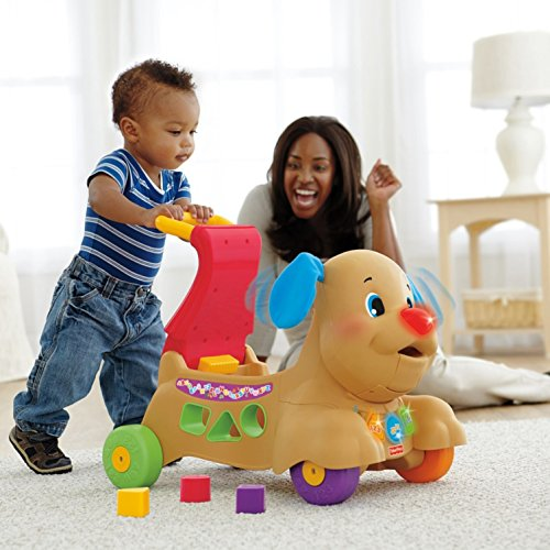 51IN sHlpIL - Fisher-Price Laugh & Learn Stride-to-Ride Puppy [Amazon Exclusive]