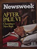 newsweek magazine august 21 1978 after paul vi choosing a new pope