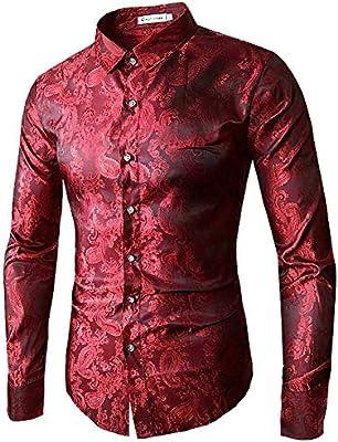CHENS Camisa/Casual/Unisex/XL Moda Masculina Camisa de Manga Larga Tops patrón de Bordado para Hombre Camisas de Vestir Hombres Delgados figurado Camisa XXL: Amazon.es: Deportes y aire libre