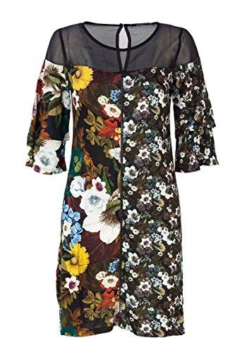 Morgana Damen Desigual Kurzes Kleid Schwarz 18WWVK39 Vest wEwI7qv