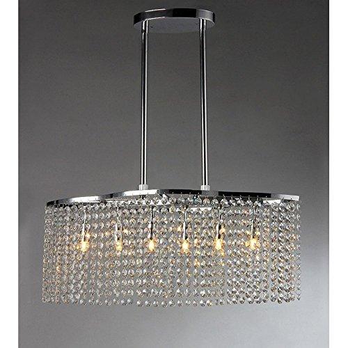 Whse of Tiffany RL1366/6 Tee Crystal 6-Light Chrome Chandelier