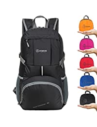 ZOMAKE Ultra Lightweight Hiking Backpack, 35L Foldable Water Resistant Travel Daypack Packable Backpack for Outdoor Camping