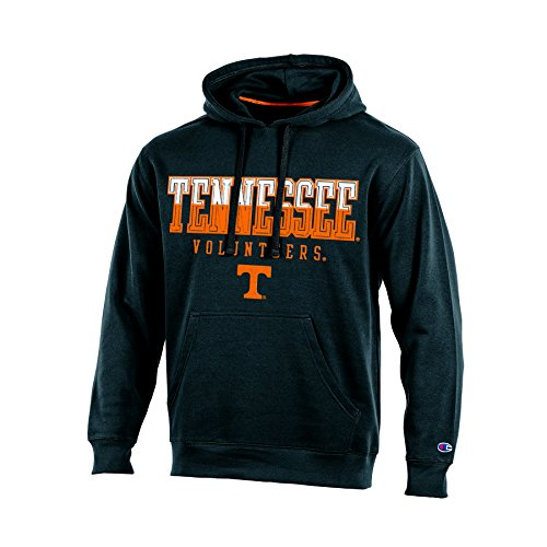 NCAA Tennessee Volunteers Adult Men Pullover Hooded Fleece, Small, Black (Mens Hoodie Tennessee)