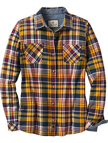 Legendary Whitetails Women's Cottage Escape Flannels Rusty Navy Plaid Small ()