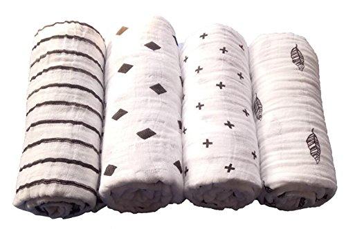 Oeko-Tex Standard 100 80x80 cm Mullwindeln Schadstoffgepr/üft Wei/ß Mullt/ücher 2er Pack Spuckt/ücher Moltont/ücher Baumwollt/ücher kochfest bei 95/° C
