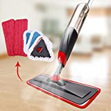 Aicehome Spray Mop, Floor Mop and Microfiber Mop with Integrated Spray and 360 Degree Rotation, Dry Wet Mop Mop with 6 Free Microfiber Pads and 2 Mop head for Cleaning Hardwood, Laminate, Tile Floor