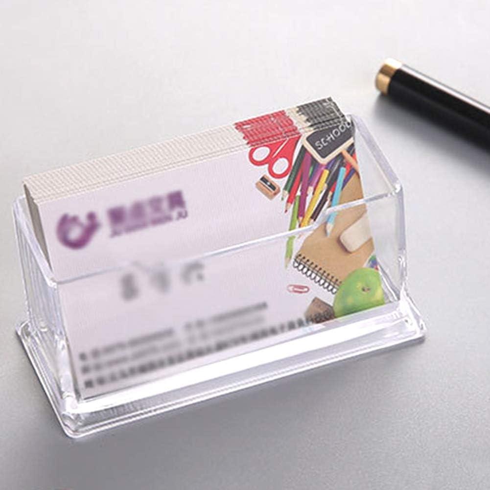 transparenter Schreibtisch-Visitenkartenetui Aufbewahrungsbox Kartenetui f/ür B/üro a Visitenkartenst/änder alpscale Einzelschichtige mit Stift