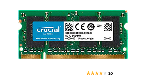 DDR2-667MHz 200-pin SODIMM Memory RAM Upgrade for The Compaq HP Business Notebook 6910p 4AllDeals 2GB 1x2GB