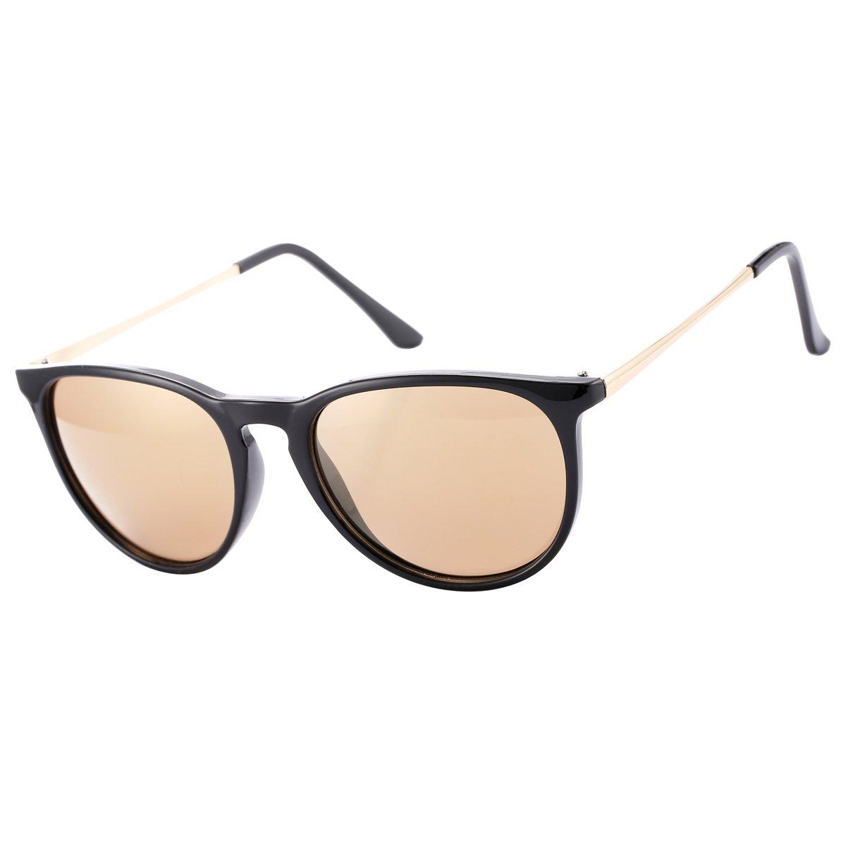 751740cb07b Amazon.com  COASION Vintage Round Sunglasses for Women – UV 400 Protection  (Gold