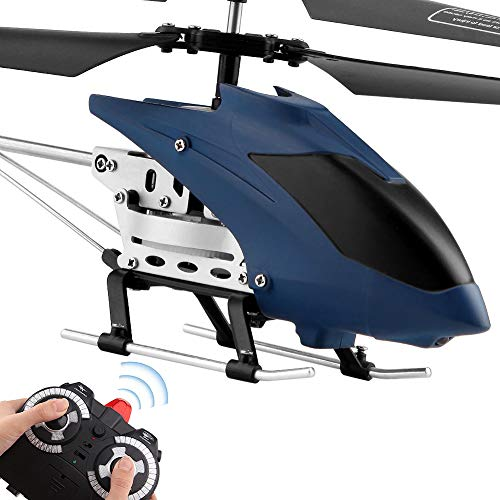 RC Helicopter Remote Control Helicopter Indoor RC Flying Helicopter Argohome 3.5 Channels Hobby Mini 2 Blades Replace Included RC Plane Toy Gift for Kids Crash Resistance Consistent Built- (Blue) (Fast Remote Control Helicopter)