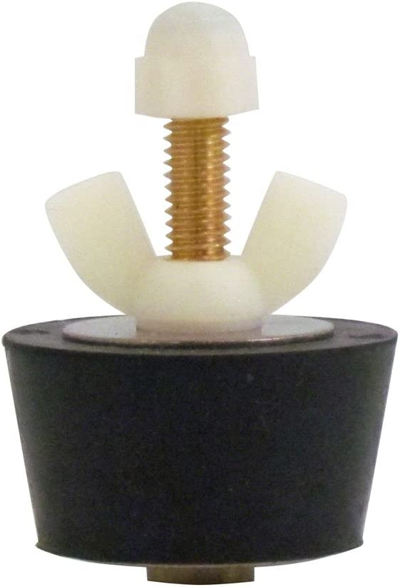 Rubber Plug with Valve for 1-1/2 Inch Pipe and 1-3/4 Inch Fitting, with Blow Thru Valve