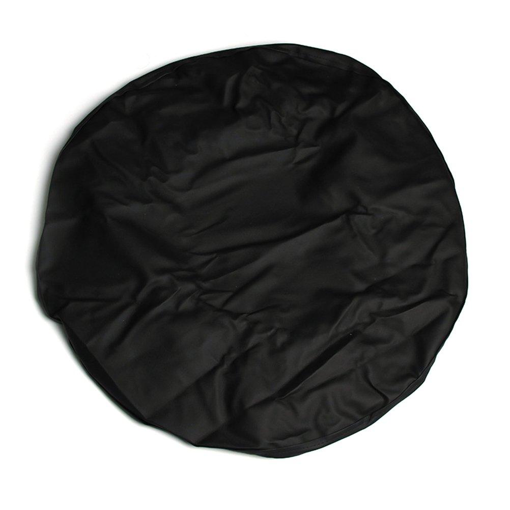 WINOMO couvre-roue di soccorso Custodia di pneumatico di ricambio in PVC 15 pollici (Nero)