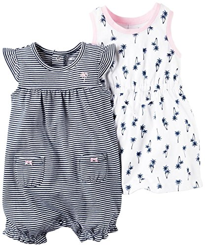 Carter's Baby Girls' 2 PK 121h241, Navy, 3M