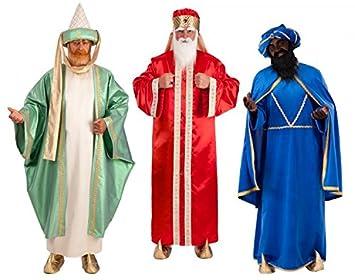 Tris Disfraces de Reyes Magos Lusso presepe Vivente tamaño adulto ...