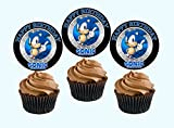 12 Happy Birthday SONIC THE HEDGEHOG Inspired Party Picks, Cupcake Picks, CupcakeToppers