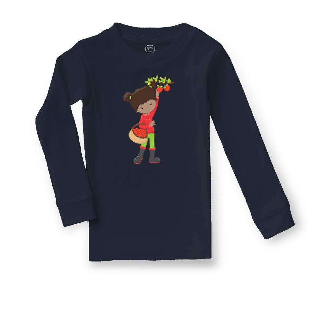 Apple Fun Girl B 2 Cotton Crewneck Boys-Girls Sleepwear Pajama 2 Pcs Set