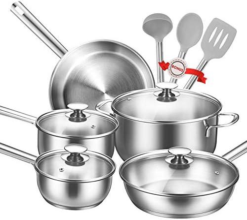 Batería de Cocina de Aluminio 12 Piezas Juego de Ollas y