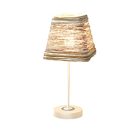 CCSUN Led E27 Simple Lámpara De La Cabecera,Tejiendo A Mano ...
