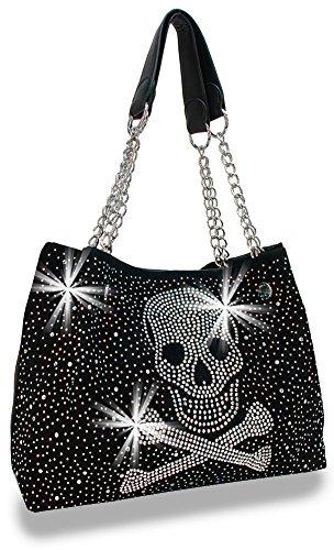 Rhinestone Skull Design Bling Women's Handbag Sparkling Ladies Purse