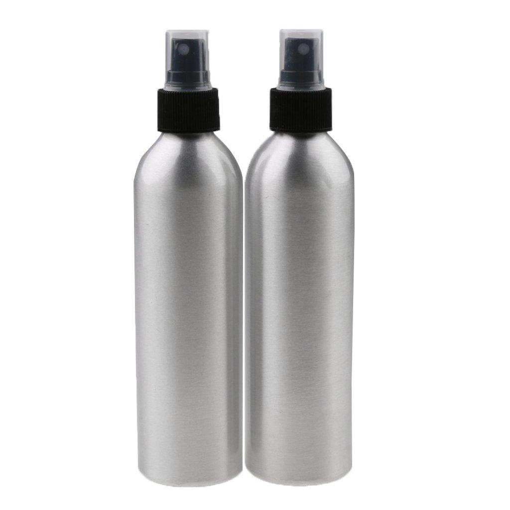 D DOLITY 2 Stück (50ml, 100ml, 150ml, 200ml) Sprühflasche aus Aluminium Zerstäuber Parfüm Kosmetik Makeup Friseur Sprayer - 50ml D DOLITY 2 Stück (50ml