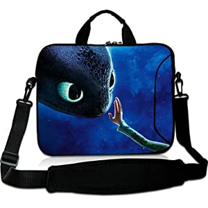 Brinchs Handmadecraft Cute Cartoon 13 13.3 Inch Laptop Shoulder Bag with How To Train Your Dragon(1) Waterproof Canvas Fabric Laptop / Notebook / MacBook / Ultrabook Computers(Twin Sides)