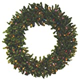 """24"""" Battery Operated Canadian Pine Pre-Lit LED Christmas Wreath - Multi Lights"""