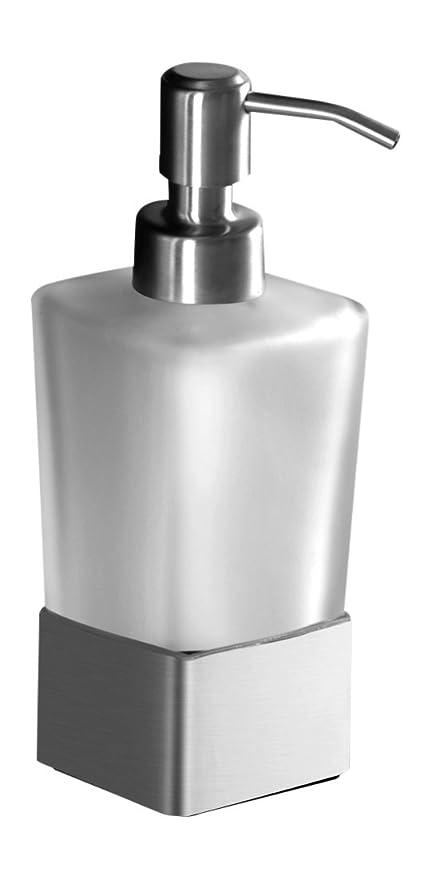 Ambrosya® | Dispensador de jabón Exclusivo Hecho de Acero Inoxidable | Cuarto de baño Soporte