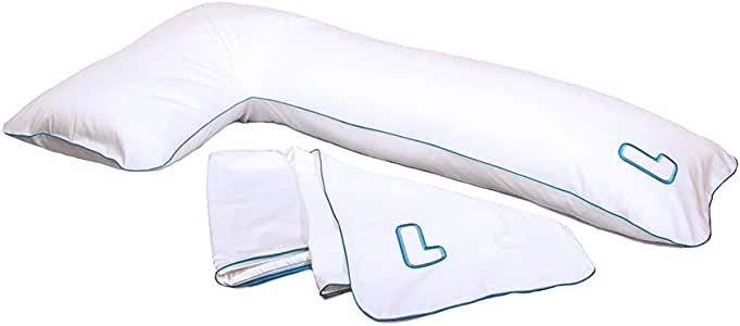 The snuggL Body Pillow (+ 2 Cases) Pregnancy Pillow-Side Sleeper Pillow Back Pain Relief Knee Pillow for Side Sleepers
